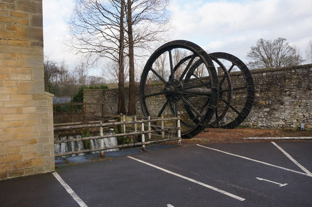 Victoria Mill, waterwheel, Bakewell
