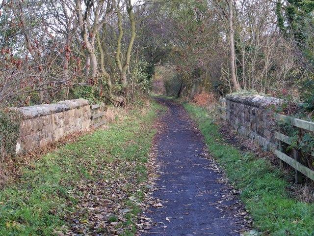 The bridge over Hood Lane.