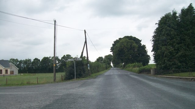 The Rathbane Cross Roads on the Newcastle Road