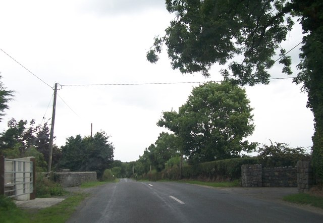 View north-westwards along the Newcastle Road