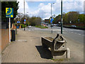 TQ2272 : Horse trough by A3 by Robin Webster