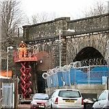 SJ9495 : Bridge repairs off Canal Street by Gerald England