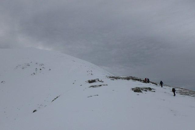 Approaching the summit of Ben Vorlich