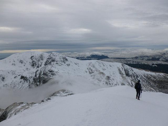 On the summit ridge of Ben Vorlich