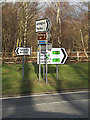 TM2241 : Roadsigns on the A1156 Felixstowe Road by Adrian Cable