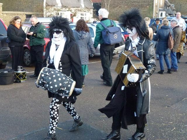 Black and white minstrels - Whittlesea Straw Bear Festival 2014