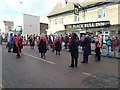 TL2697 : Crosskey Clog dancers outside The Black Bull - Whittlesea Straw Bear Festival 2014 by Richard Humphrey