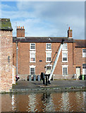 SO8171 : Housing and wharf in Stourport, Worcestershire by Roger  Kidd