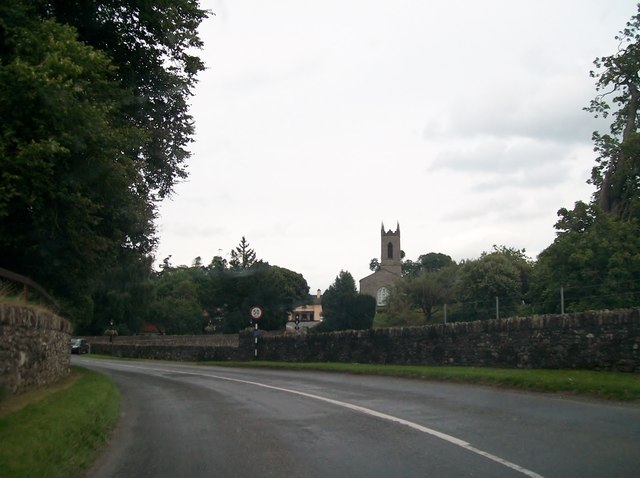 The R164 winding its way north to the village of Moynalty