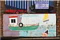 NY1866 : A mural at Port Street, Annan by Walter Baxter