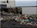 SJ3587 : Plastic debris washed up by the tide by Bikeboy