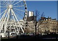 SJ8498 : Piccadilly Gardens and the Wheel of Manchester by Andrew Hill