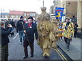 TL2797 : Bears leave The Market Place - Whittlesea Straw Bear Festival 2014 by Richard Humphrey