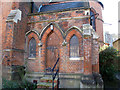 TQ4377 : St Joseph's church: entrance with date by Stephen Craven