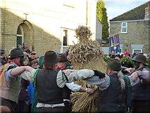 TL2696 : Old Glory Molly dance round straw bear - Whittlesea Straw Bear Festival 2014 by Richard Humphrey
