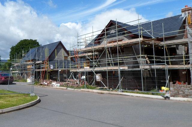 Swedish energy saving houses being built in Llangynidr