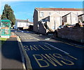 ST2391 : Bus stop and shelter on a steep hill in Risca by Jaggery