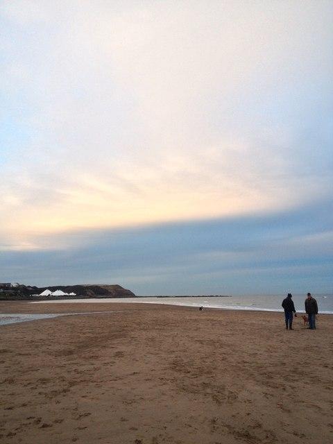 A couple on the beach, Scarborough