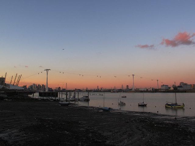 Emirates Airline at dusk