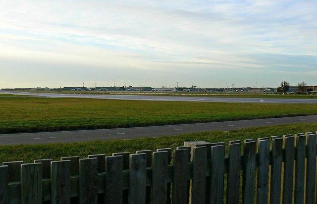 View across Runway 26 RAF Brize Norton