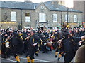 TL2797 : Witchmen Border Morris near The George - Whittlesea Straw Bear Festival 2014 by Richard Humphrey