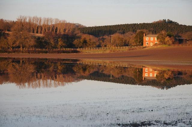 Flooding at Bodenham