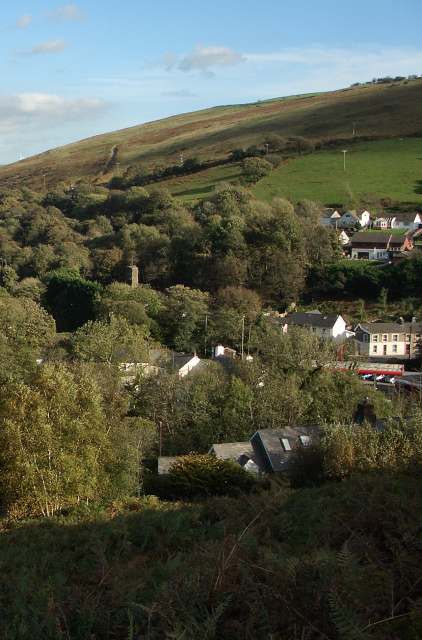 A view across the Ogmore Valley at Blackmill
