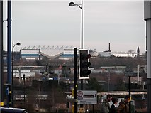SP0787 : St Andrews Stadium from Chapel Street, Birmingham by Robin Sones