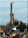 SO9098 : Pile driving at Chapel Ash, Wolverhampton by Roger  Kidd