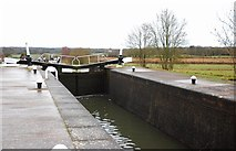 SP1876 : Lower gates of Lock No. 50, Grand Union Canal, Knowle near Solihull by P L Chadwick
