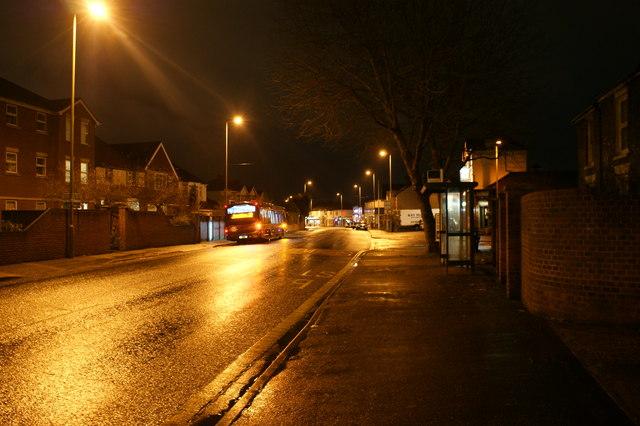 Forton Road at night
