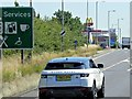 SP8280 : Eastbound A14 Approaching the Rothwell Service Area by David Dixon
