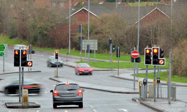Road junction, Belvoir, Belfast