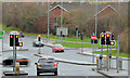 J3368 : Road junction, Belvoir, Belfast by Albert Bridge