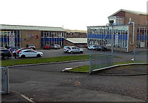 ST1477 : Entrance to Cantonian High School, Cardiff by Jaggery