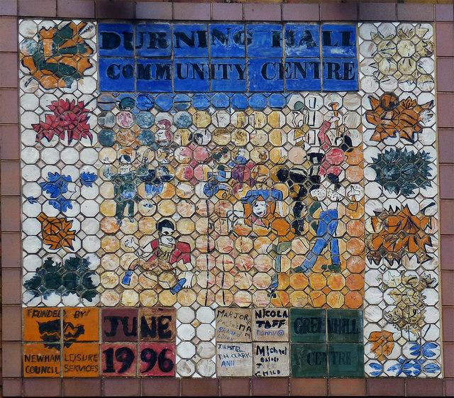 Mosaic panel, Durning Hall Community Centre