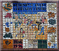TQ4085 : Mosaic panel, Durning Hall Community Centre by Julian Osley