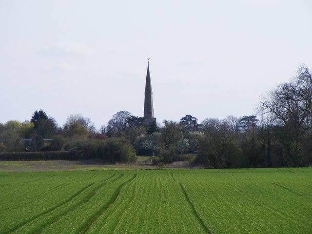 View across the fields towards Glinton