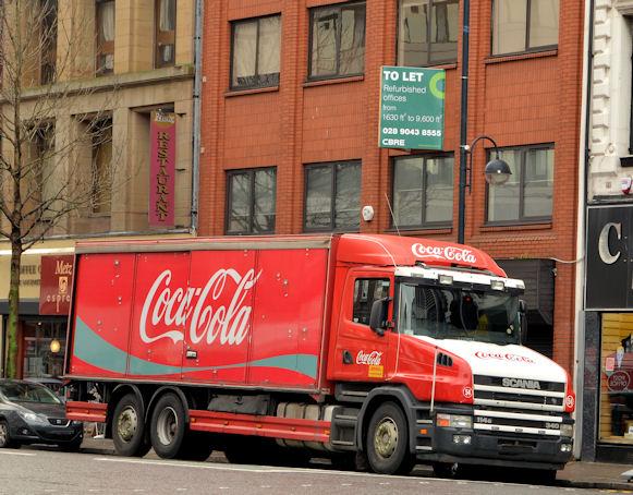 Coca-Cola Scania lorry, Belfast