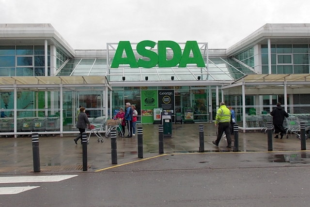 Entrance to Asda, Caerphilly