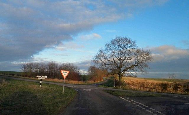 Road junction near The Lofts