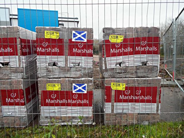 Marshalls paving blocks, made in Scotland