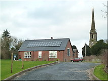 SO9969 : Tardebigge Village Hall and Church by Chris Allen