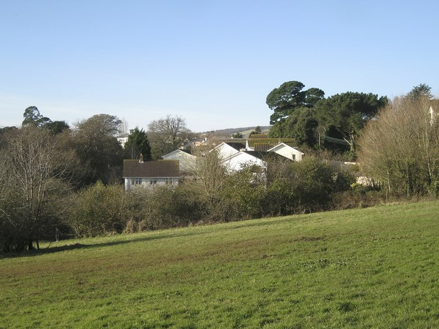 The Rowdens estate from Eastcliff Park, Teignmouth