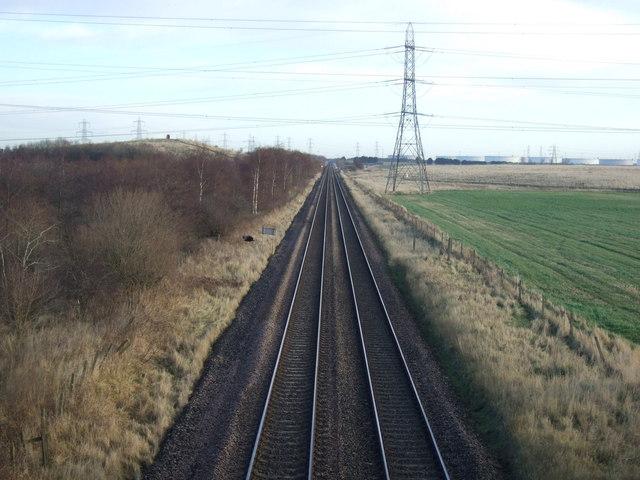 Railway towards Hartlepool