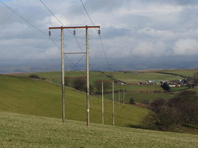 Electricity pylons near Senghenydd
