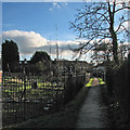 TL4655 : Path past the allotments by John Sutton