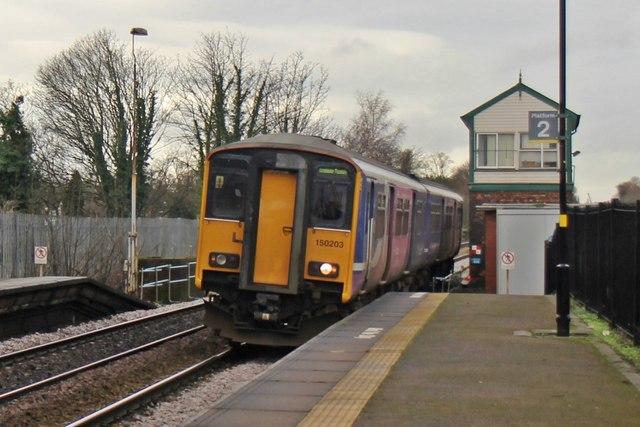 Northern Rail Class 150, 150203, Huyton railway station