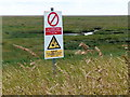 TF5356 : Sign overlooking the salt marsh by Mat Fascione
