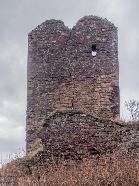 Cracked north wall of Seafield Tower